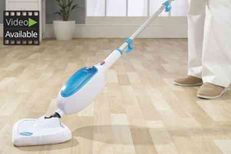 Groupon Goods Global GmbH - Easy Steam Mop With Three Additional Pads - Save 71%