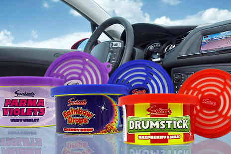 Megastore 247 - Set of 3 Swizzels Retro Sweets Car Air Freshener Tins - Save 0%