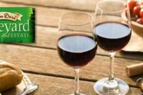 Cwm Deri Vineyard - Wine Tasting For Two With Vineyard Walk, Cheeseboard Platter and Chutneys - Save 50%