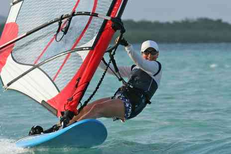 H20 Windsurfing School - Beginners Windsurfing Board Hire or Three Hour Lesson for One of Two - Save 33%