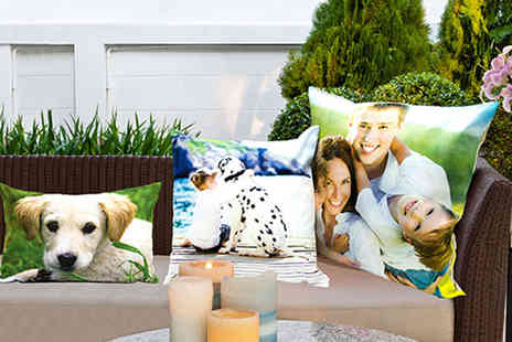 Dip Into Sales - Personalised colour photo cushion - Save 60%