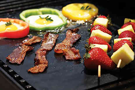SA Products - Pair of non stick BBQ grill mats - Save 67%