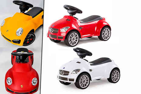 Matrix Media Distribution - Kids Porsche 911 or Mercedes SLK 55 AMG ride on car - Save 42%