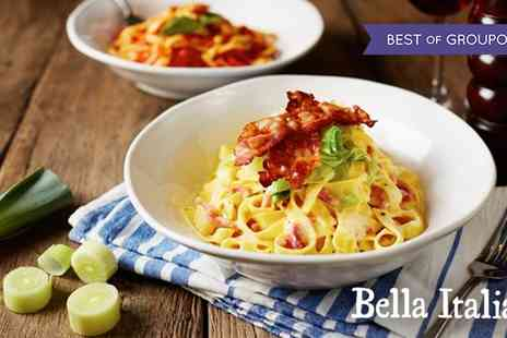 Bella Italia - New Bella Italia Menu: Two Course Meal with Wine or Peroni or Three Course Meal with Prosecco - Save 52%