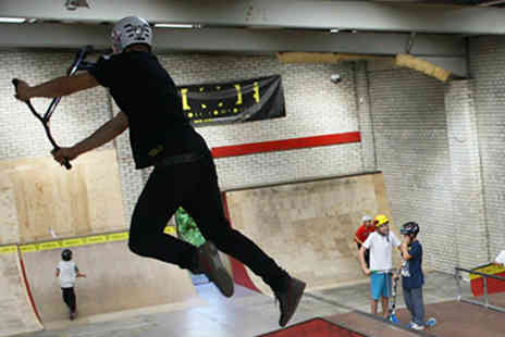 Override Skate Park - Two hours skate park entry with a hot dog and drink for two - Save 53%