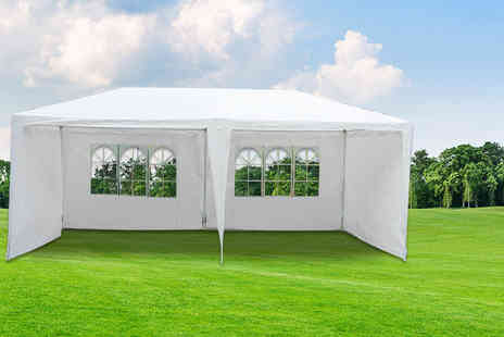 UK Home and Garden Store - Large 3m x 6m garden marquee style gazebo - Save 62%