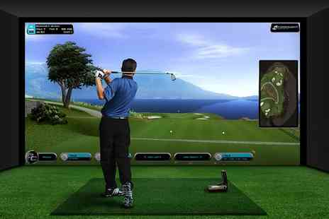 Ferndown Forest Golf Club - Two Hour Golf Simulator Experience with Beer For Four  - Save 66%