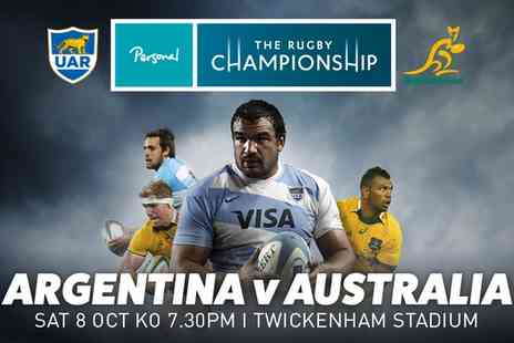 International Sports Investments - The Rugby Championship  Argentina v Australia Child or Adult Entry On 8 October - Save 56%