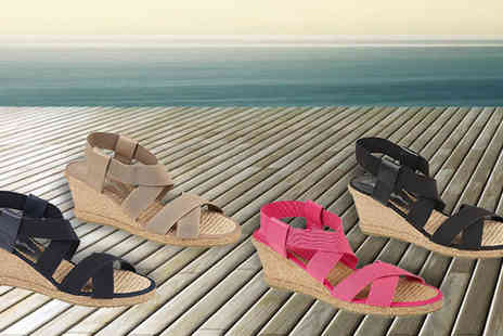 Solewish - Womens Eden Wedge Espadrilles Four Colours - Save 0%