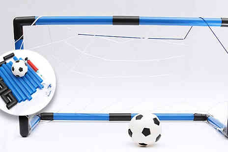 Rose River - Portable Mini Football Goal with Pump & Mini Football - Save 75%