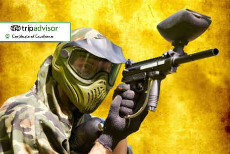 Asylum Paintball - Half day indoor paintballing experience for up to five with 100 paintballs each  - Save 96%