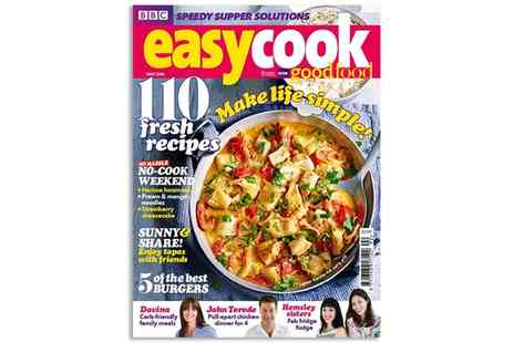 BBC Easy Cook - BBC Easy Cook One Year Subscription with Free Delivery - Save 33%