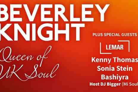 Kent Entertainments - Beverley Knight Concert at Westenhanger Castle Entry for One with £5 Toward Meal on 18 June - Save 30%