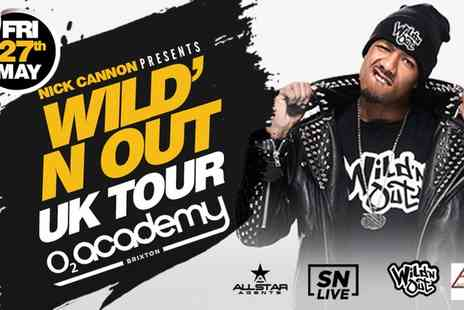 SN Live Presents - VIP Ticket to Nick Cannon Live Wild N Out Show, O2 Academy Brixton, 27 May - Save 46%