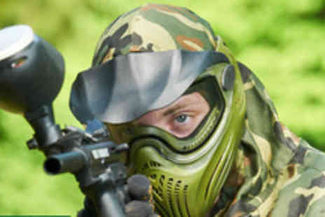 Ape Paintball - Full day of paintballing including 100 paintballs each for 5 people - Save 93%
