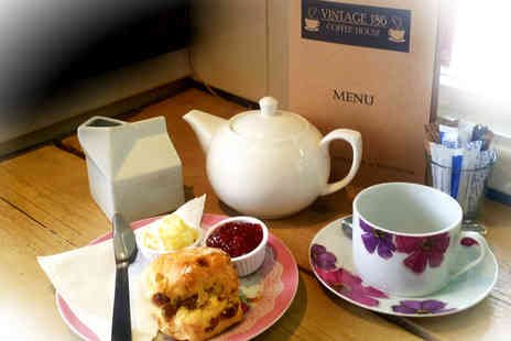 Vintage 186 Coffee House - Delicious vintage cream tea for two with two drinks each  - Save 55%