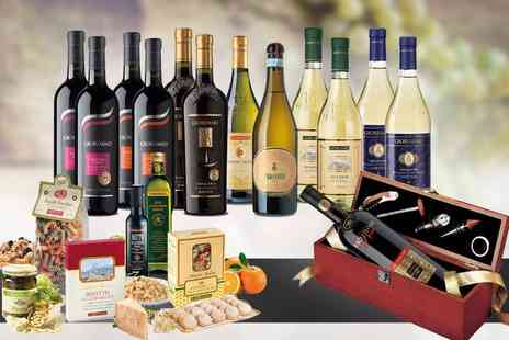Giordano Wines - Luxurious 13 bottle Italian wine, food and gift set Delivery Included - Save 0%