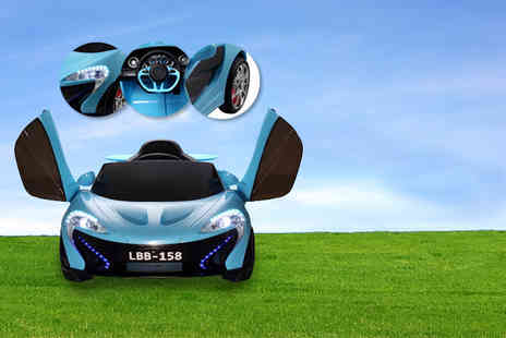 Create Leisure - Kids 12v electric Rocket MC12 ride on car in white, green, blue or black - Save 0%