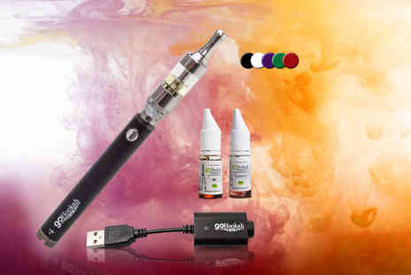 Toys Wizard - Three piece Vision Spinner II e cig kit with 1600mAH battery or include two 12mg e liquids - Save 77%