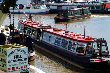 Norbury Wharf - Shropshire Canal Cruise with Optional Cream Tea for One, Two or a Family or Four - Save 53%
