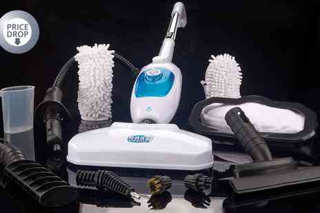 Groupon Goods Global GmbH - Steam Mop System With 12 Accessories - Save 77%