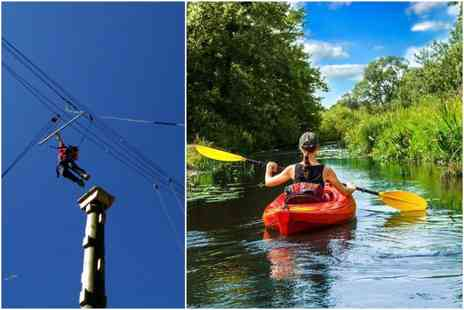 Colwick Park Adventure Centre - Two hour outdoor adventure experience including high ropes and canoe rafting  - Save 53%