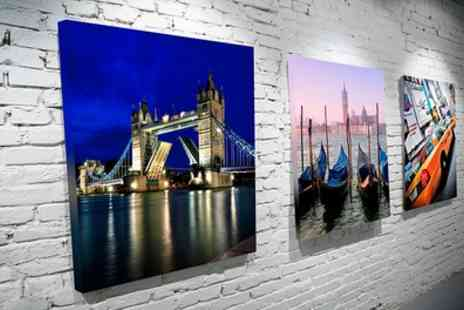 You Frame - City Art Canvas Print in Choice of Sizes - Save 77%