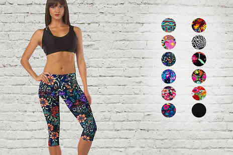 Snippick - Printed Sports Leggings 12 Designs - Save 68%