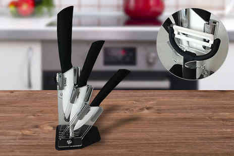 Flawlesssteel Ltd - Ceramic Kitchen Knife Set - Save 60%