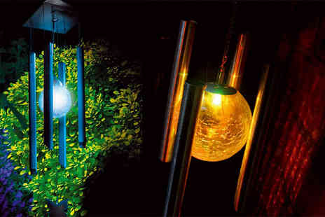 Hungry Bazaar - LED colour changing solar wind chime - Save 60%