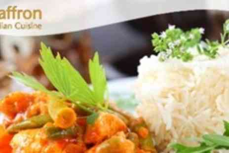 Saffron - Indian Meal For Two - Save 61%