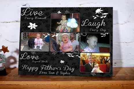 You Frame - Fathers Day Personalised Canvas Card - Save 0%