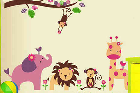 Last Chance Supplies - Jungle Animals Nursery Wall Decal - Save 67%