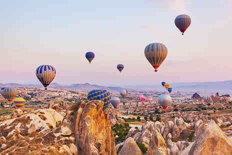 Travel Center UK - Five or Seven night stay in Cappadocia including breakfast and a hot air balloon tour - Save 23%