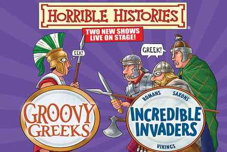 Churchill Theatre - Ticket to Horrible Histories Groovy Greeks or Incredible Invaders at Churchill Theatre, 31 May To 4 June - Save 32%
