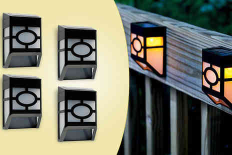 Gablemere  - 4 Piece Solar Ambient Fence Lights Set - Save 0%