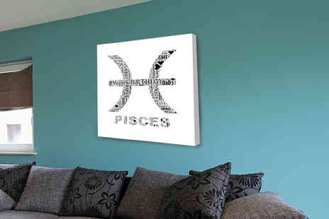 "You Frame International - 12"" x 12"" personalised star sign canvas - Save 80%"