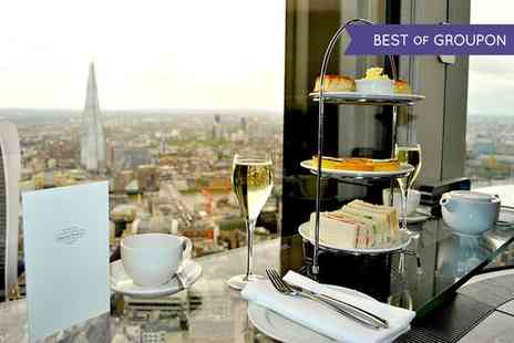 Vertigo42 - Sky High Champagne Afternoon Tea for Two with Panoramic Views of London - Save 50%
