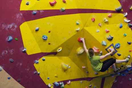 The Climbing Academy - Indoor Climbing Induction, Shoe Hire and Return Visit - Save 68%