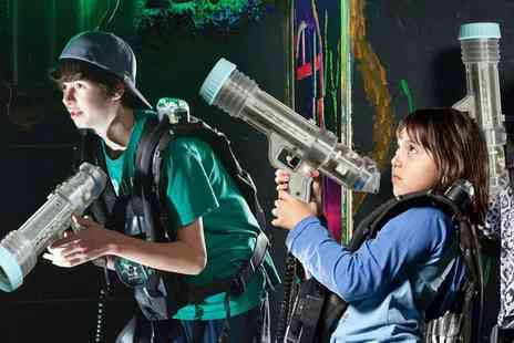Laser Quest Blackpool - Laser Tag Party with Food and Two Games for Up to Ten - Save 50%