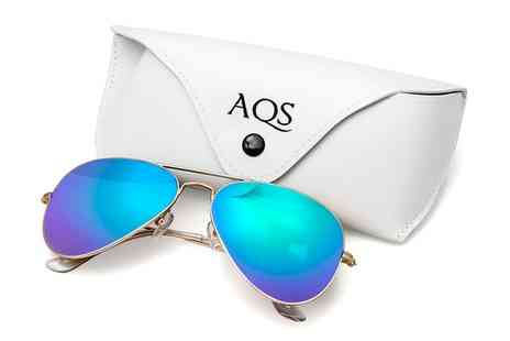 AQS - James Unisex Mirrored Aviators in Choice of Colour - Save 90%