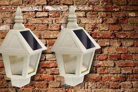 Shop Monk - Two Piece Solar Wall Lantern Set - Save 0%