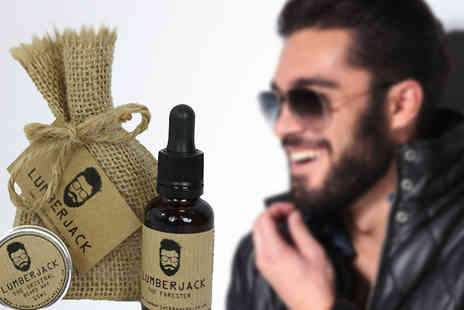 Lumberjack Beards - Beard Grooming Gift Set of Oil and Wax - Save 45%