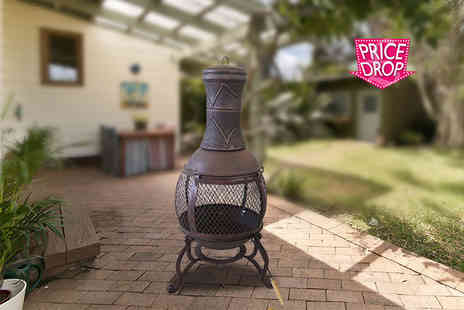 eStore - An Iron steel barbecue chiminea with grill - Save 65%