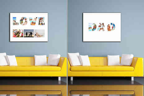 "Discount Photo Prints - 16"" x 12"" Fathers Day photo collage - Save 90%"