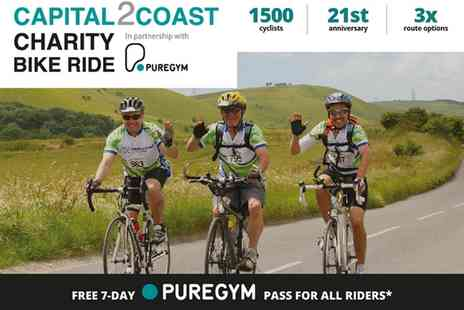 Norwood - Adult Entry to Capital 2 Coast Charity Bike Ride, London Eye on 26 June - Save 37%