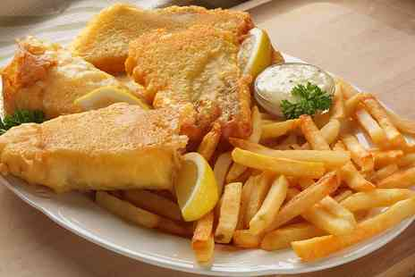 Toast Cafe Bar & Grill Restaurant - Fish and Chips for Two or Four - Save 50%