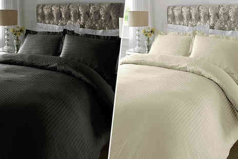 Adam Linens - Single, double or king size luxury Egyptian cotton duvet cover set - Save 51%