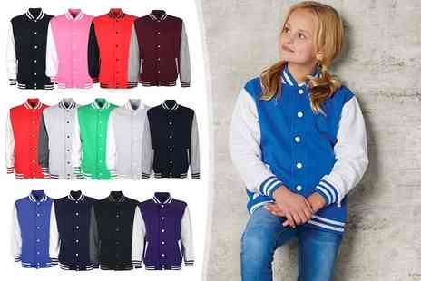 Gorgeous Selection - Kids varsity jacket choose from 13 colours - Save 65%