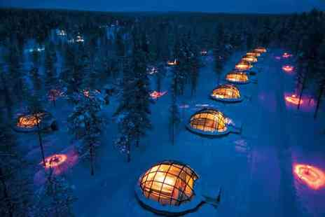 Deluxe Breaks - Two or Three nights Finland break with a glass igloo stay and flights - Save 25%